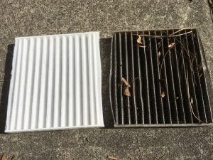 Toyota Rav 4 New and Old cabin filters