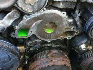 VY V6 Commodore water pump removed