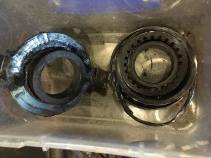 Failed Subaru Forester clutch throw out bearing