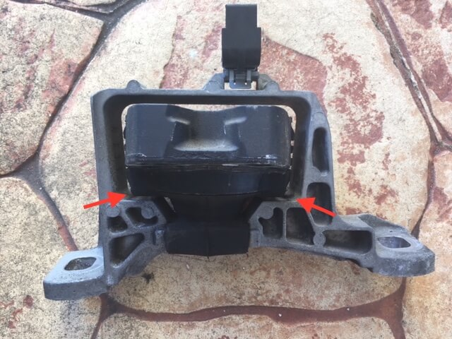 Collapsed Ford Focus engine mount