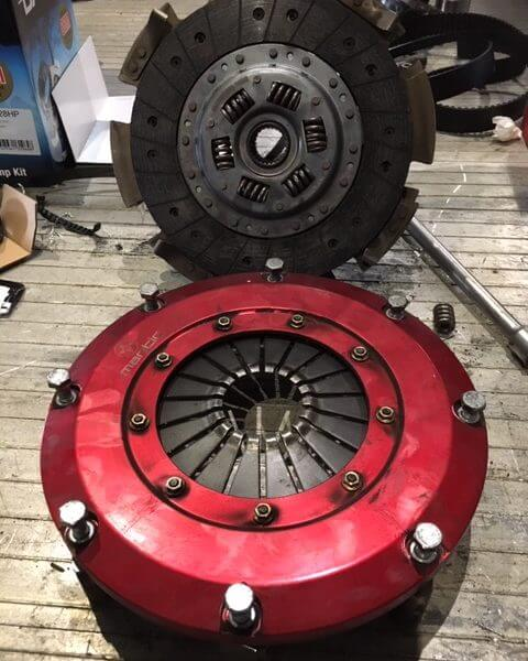 Mantic twin plate clutch for a LS3 VE Commodore