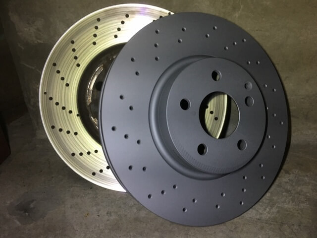 Mercedes disc brake rotors